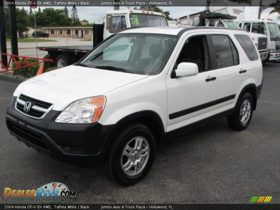 2004 Honda CR-V EX 4WD Taffeta White / Black Photo #5 | DealerRevs.com