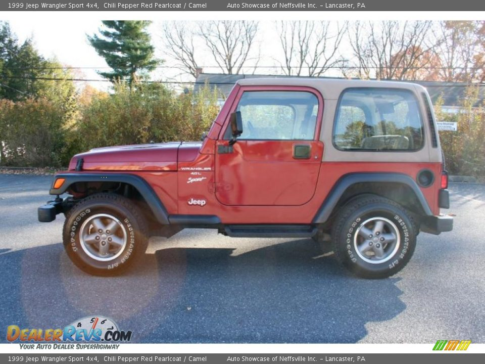 Chili Pepper Red Pearlcoat 1999 Jeep Wrangler Sport 4x4