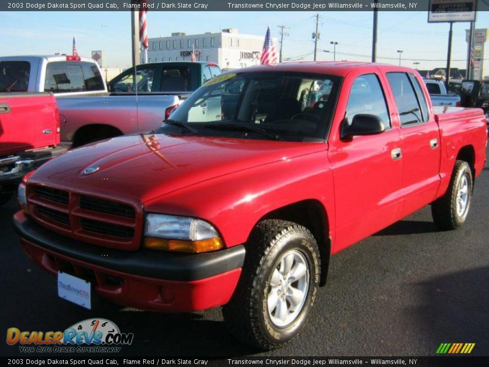 2003 Dodge Dakota Sport Quad Cab Flame Red Dark Slate