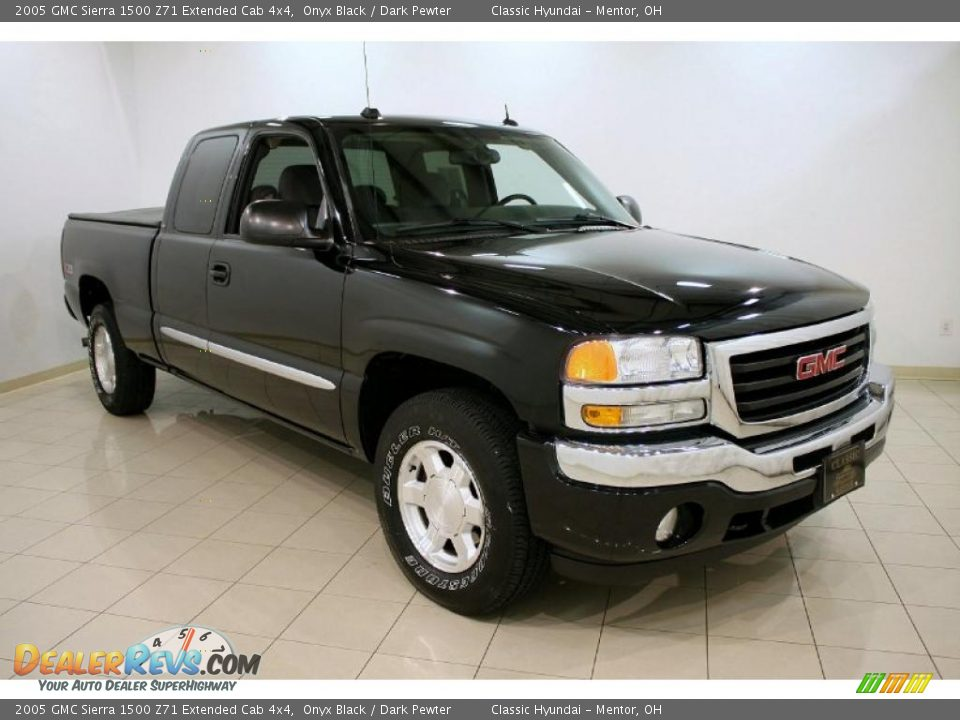 2005 gmc sierra 1500 z71 extended cab 4x4 onyx black dark pewter photo 1. Black Bedroom Furniture Sets. Home Design Ideas