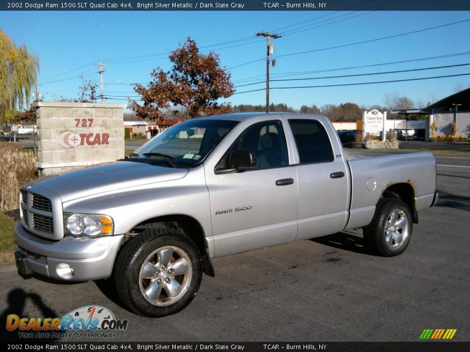 2002 dodge ram 1500 slt quad cab 4x4 bright silver metallic dark slate gray photo 1. Black Bedroom Furniture Sets. Home Design Ideas