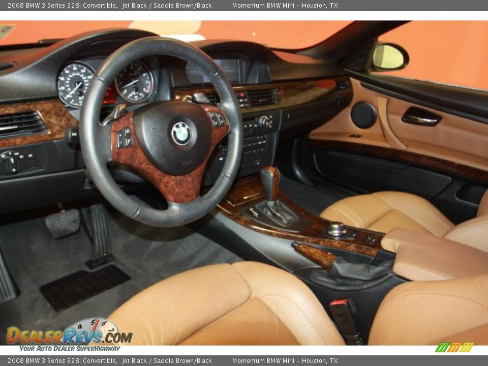saddle brown black interior 2008 bmw 3 series 328i convertible photo 5. Black Bedroom Furniture Sets. Home Design Ideas