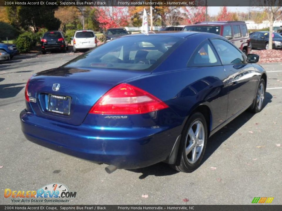2004 honda accord ex coupe sapphire blue pearl black. Black Bedroom Furniture Sets. Home Design Ideas