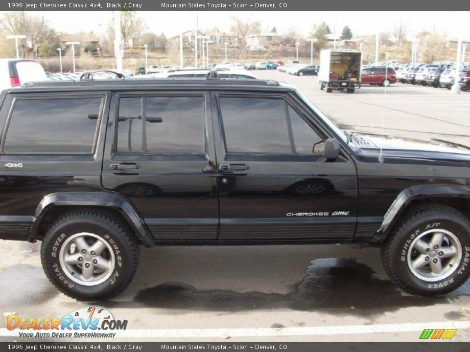 1996 jeep cherokee classic 4x4 black gray photo 3 dealerrevs com