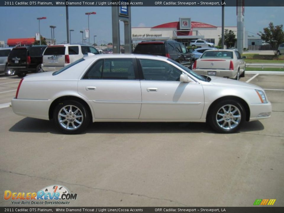 White Diamond Tricoat 2011 Cadillac Dts Platinum Photo 4