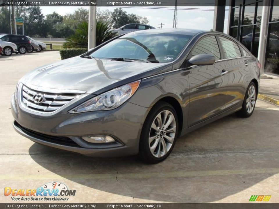 2011 Hyundai Sonata Se Harbor Gray Metallic Gray Photo