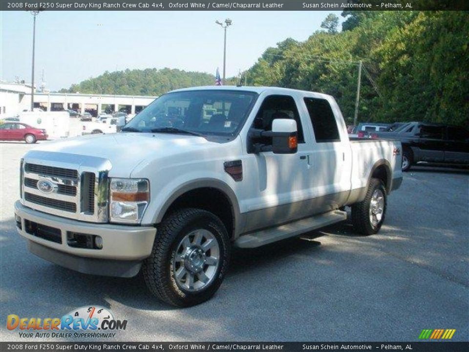 2008 ford f250 super duty king ranch crew cab 4x4 oxford white camel chaparral leather photo