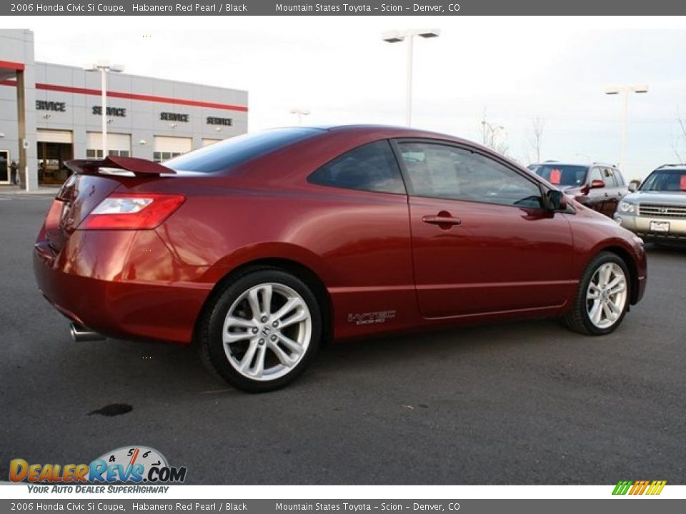 2006 honda civic si coupe habanero red pearl black photo. Black Bedroom Furniture Sets. Home Design Ideas