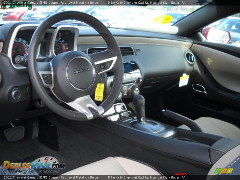 beige interior 2011 chevrolet camaro ss rs coupe photo. Black Bedroom Furniture Sets. Home Design Ideas