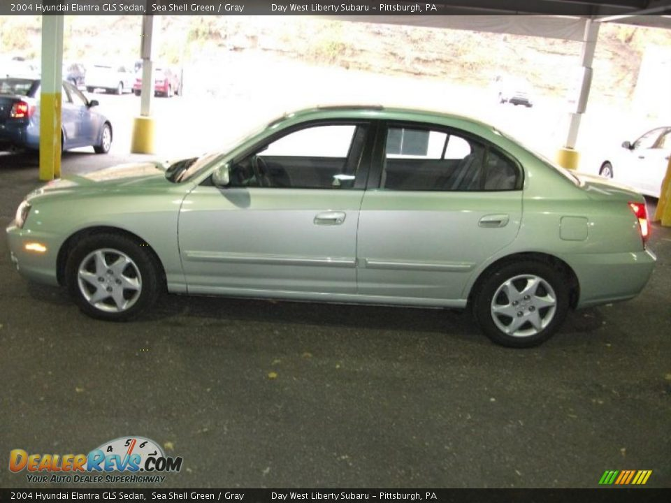 2004 hyundai elantra gls sedan sea shell green gray. Black Bedroom Furniture Sets. Home Design Ideas