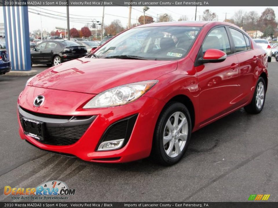 velocity red mica 2010 mazda mazda3 s sport 4 door photo 3. Black Bedroom Furniture Sets. Home Design Ideas