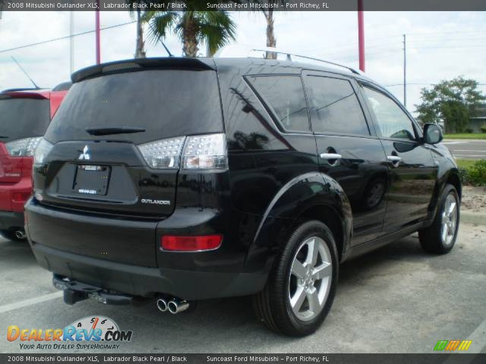 2008 Mitsubishi Outlander XLS Labrador Black Pearl / Black Photo #2 | DealerRevs.com