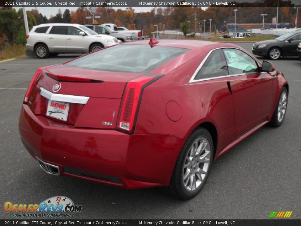 2011 Cadillac Cts Coupe Crystal Red Tintcoat Cashmere