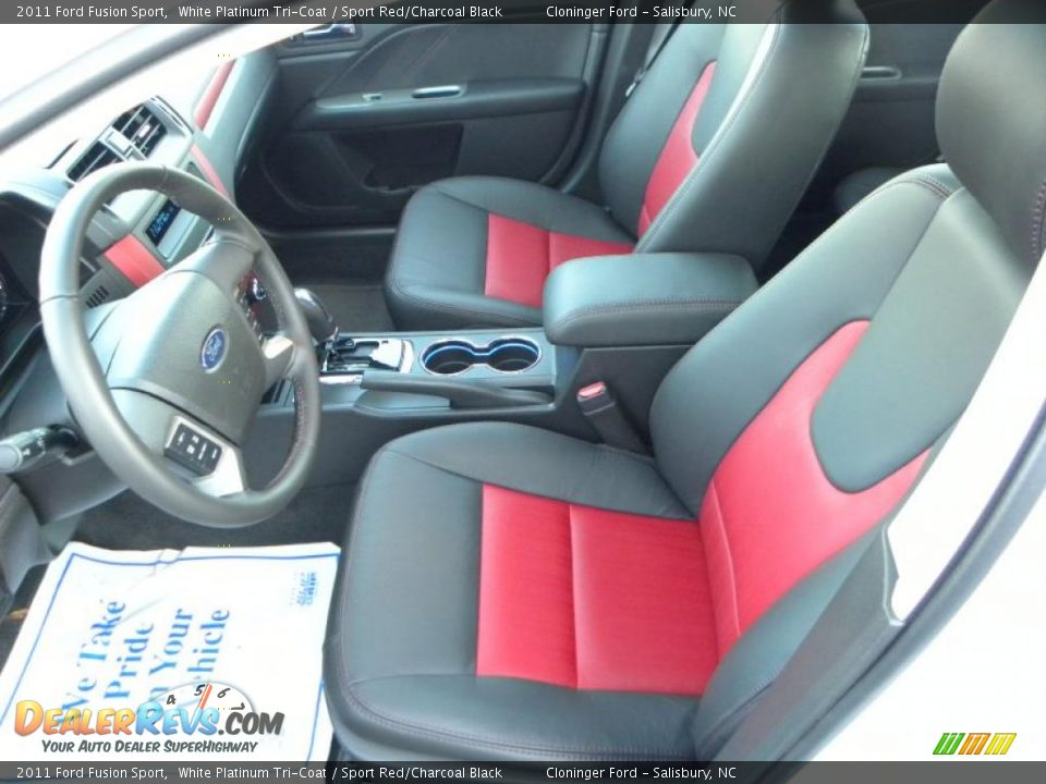 Sport Red Charcoal Black Interior 2011 Ford Fusion Sport