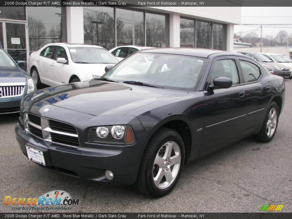 2008 Dodge Charger R/T AWD Steel Blue Metallic / Dark Slate Gray Photo ...