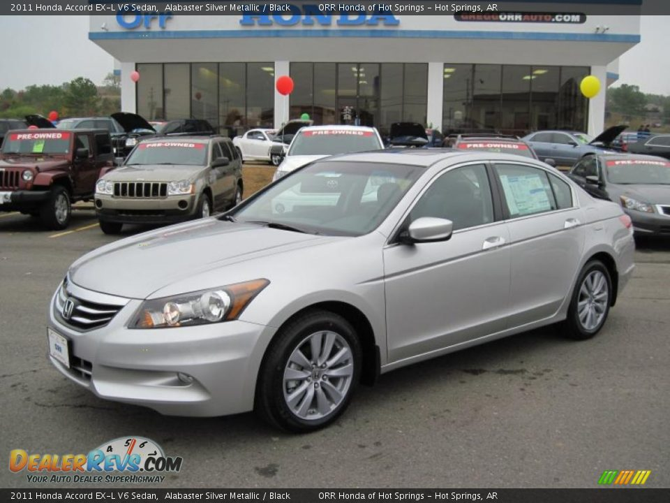 2011 Honda Accord Ex L V6 Sedan Alabaster Silver Metallic