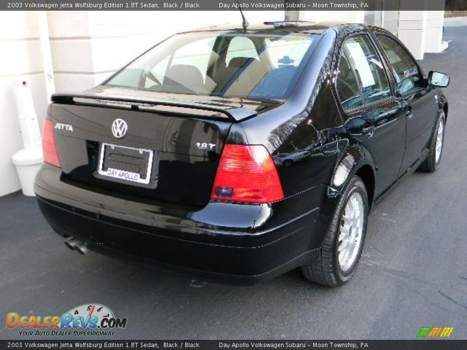 2003 volkswagen jetta wolfsburg edition 1 8t sedan black black photo 3. Black Bedroom Furniture Sets. Home Design Ideas