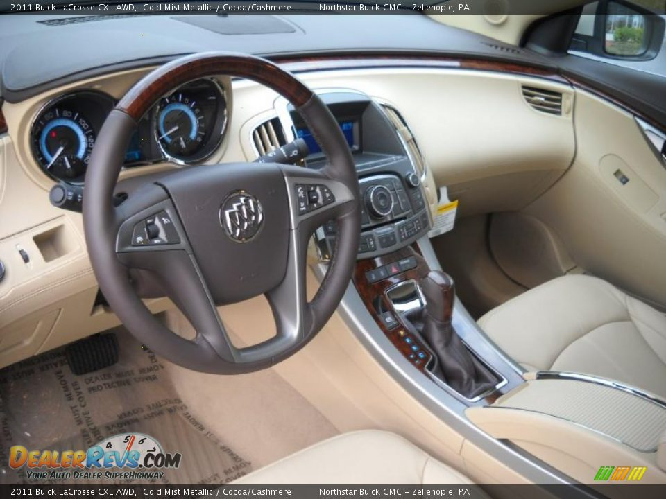 Cocoa Cashmere Interior 2011 Buick Lacrosse Cxl Awd Photo 10