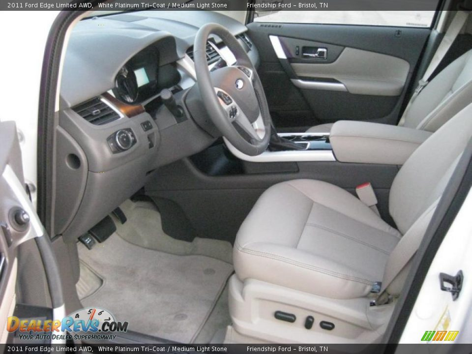 Medium Light Stone Interior 2011 Ford Edge Limited Awd