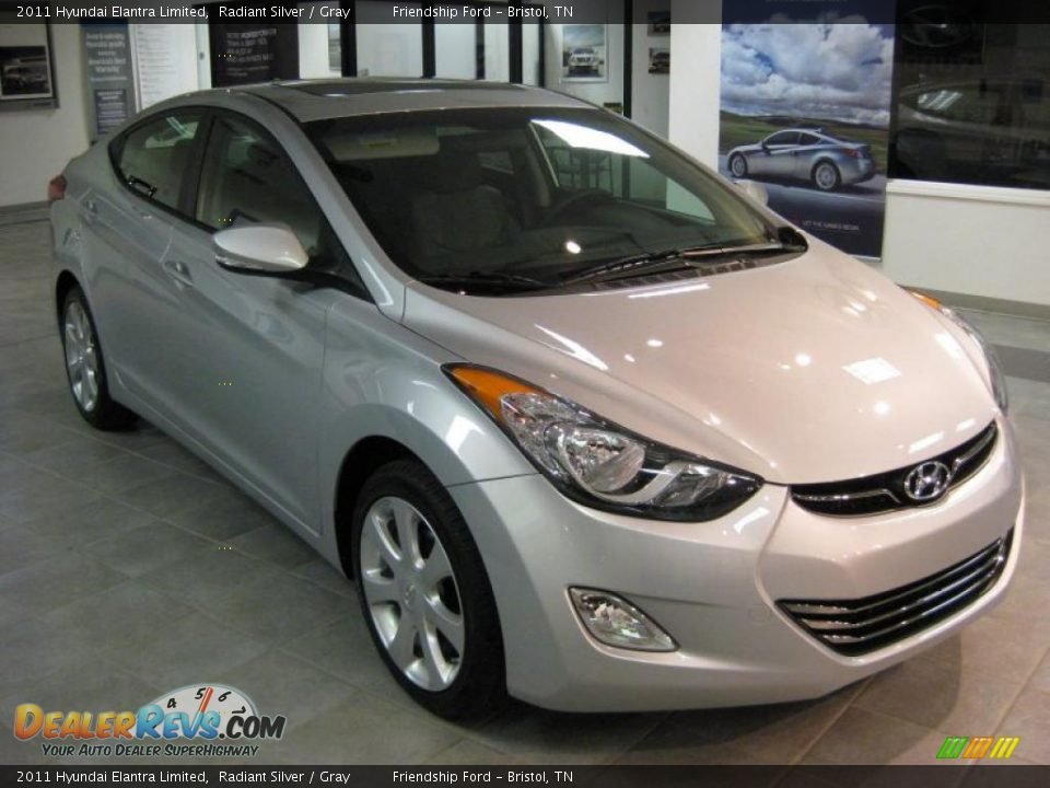 2011 Hyundai Elantra Limited Radiant Silver Gray Photo 4 Dealerrevs Com