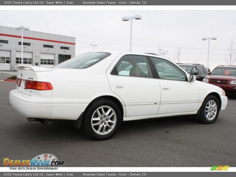 2000 Toyota Camry Xle V6 Super White Gray Photo 2