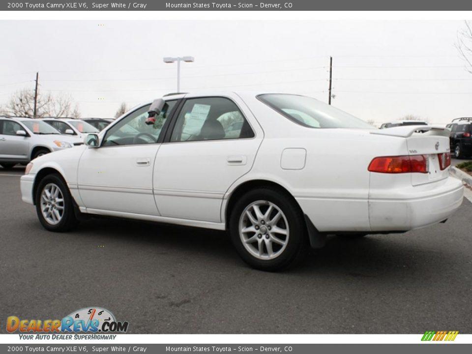 2000 Toyota Camry Xle V6 Super White Gray Photo 4