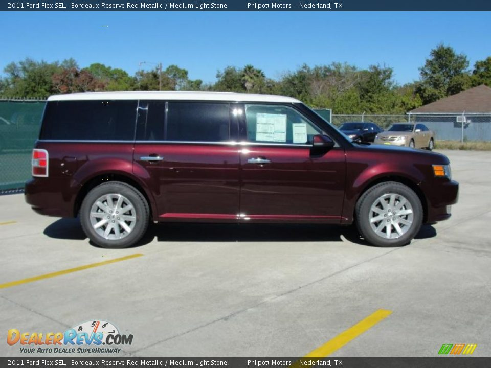 bordeaux reserve red metallic 2011 ford flex sel photo 2. Black Bedroom Furniture Sets. Home Design Ideas