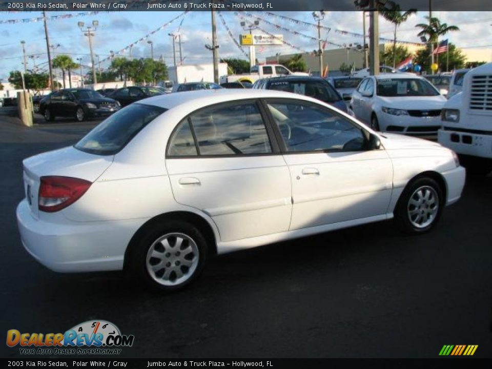 2003 kia rio sedan polar white gray photo 12. Black Bedroom Furniture Sets. Home Design Ideas
