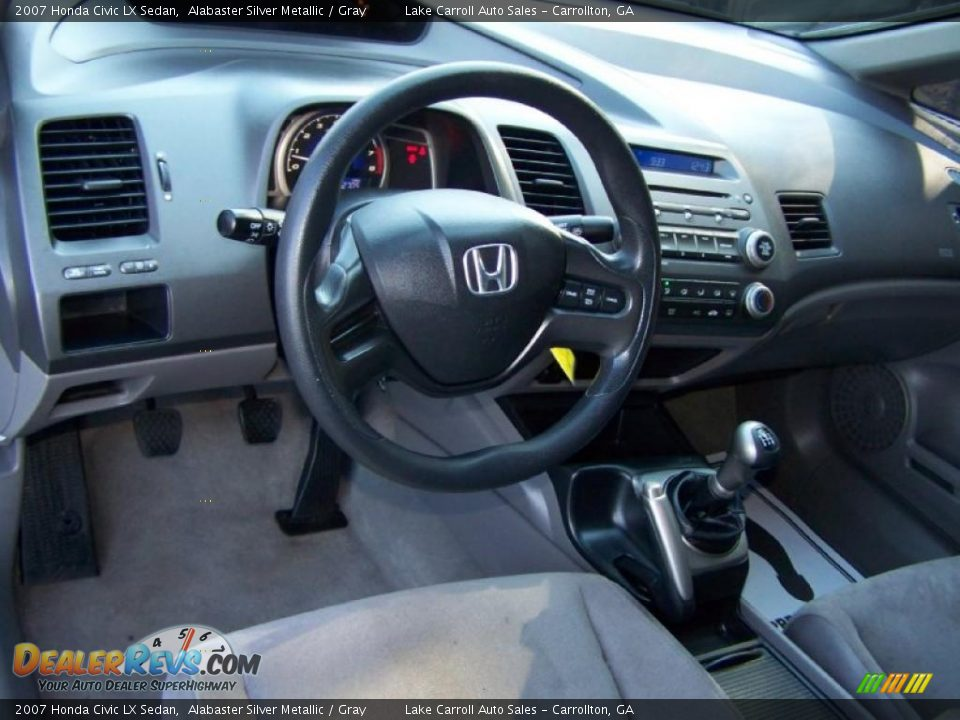 gray interior 2007 honda civic lx sedan photo 4. Black Bedroom Furniture Sets. Home Design Ideas