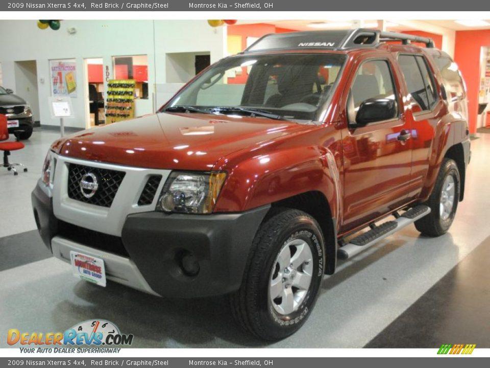 2009 Nissan Xterra S 4x4 Red Brick Graphite Steel Photo