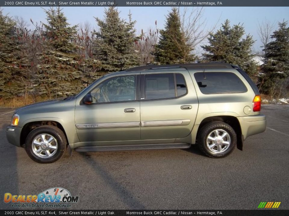 2003 gmc envoy xl slt 4x4 silver green metallic light. Black Bedroom Furniture Sets. Home Design Ideas