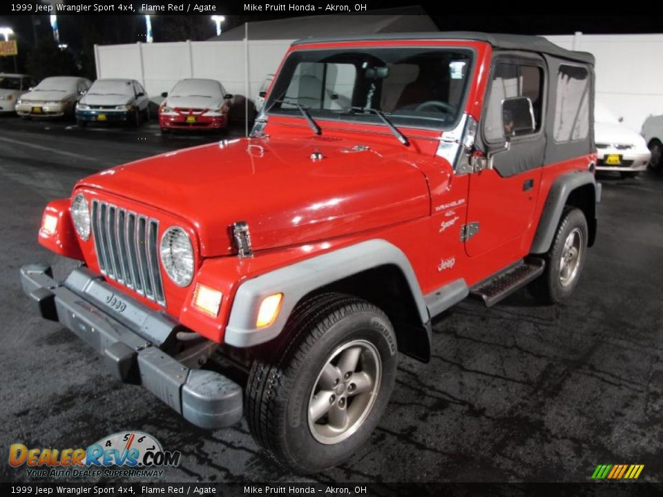 1999 jeep wrangler sport 4x4 flame red agate photo 3. Black Bedroom Furniture Sets. Home Design Ideas