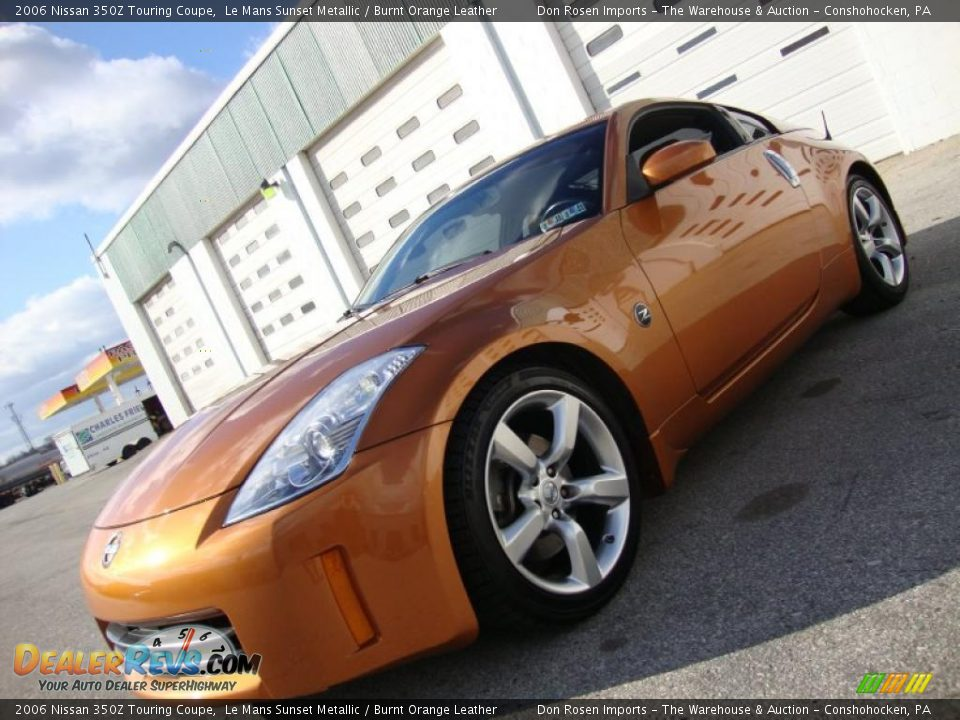 2006 nissan 350z touring coupe le mans sunset metallic burnt orange leather photo 1. Black Bedroom Furniture Sets. Home Design Ideas