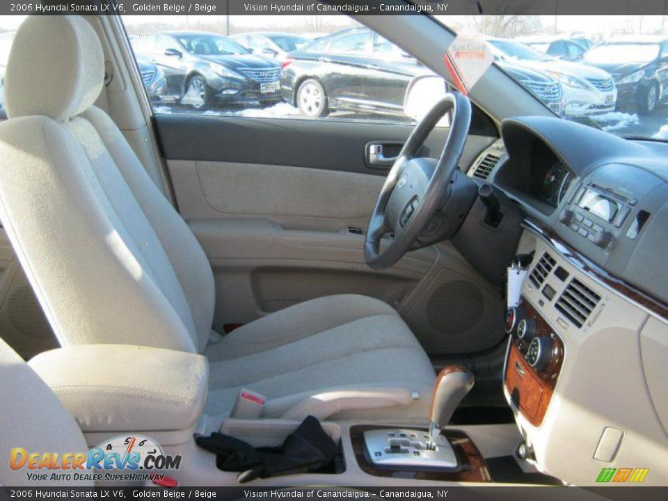 Beige interior 2006 hyundai sonata lx v6 photo 7 for Hyundai sonata 2006 interior