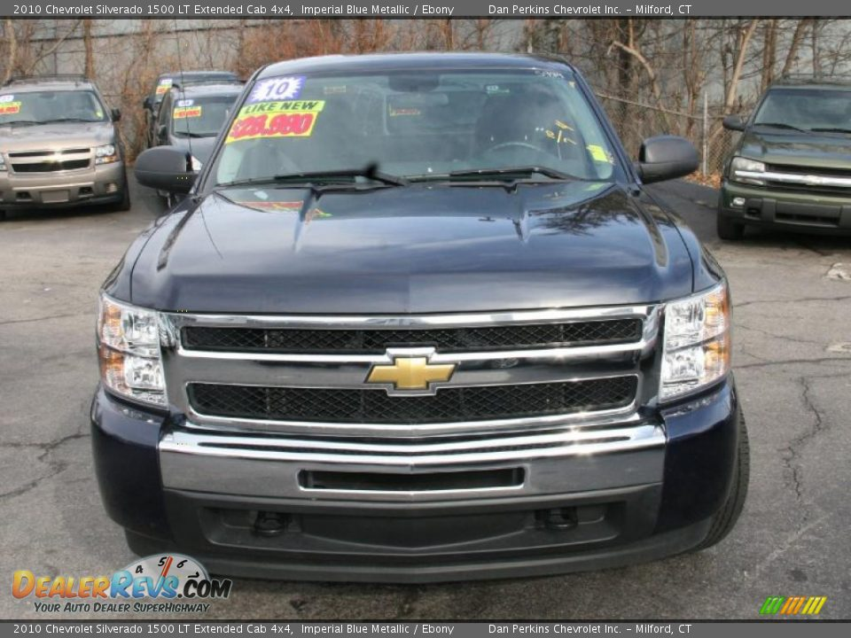 2010 Chevrolet Silverado 1500 LT Extended Cab 4x4 Imperial Blue Metallic / Ebony Photo #2