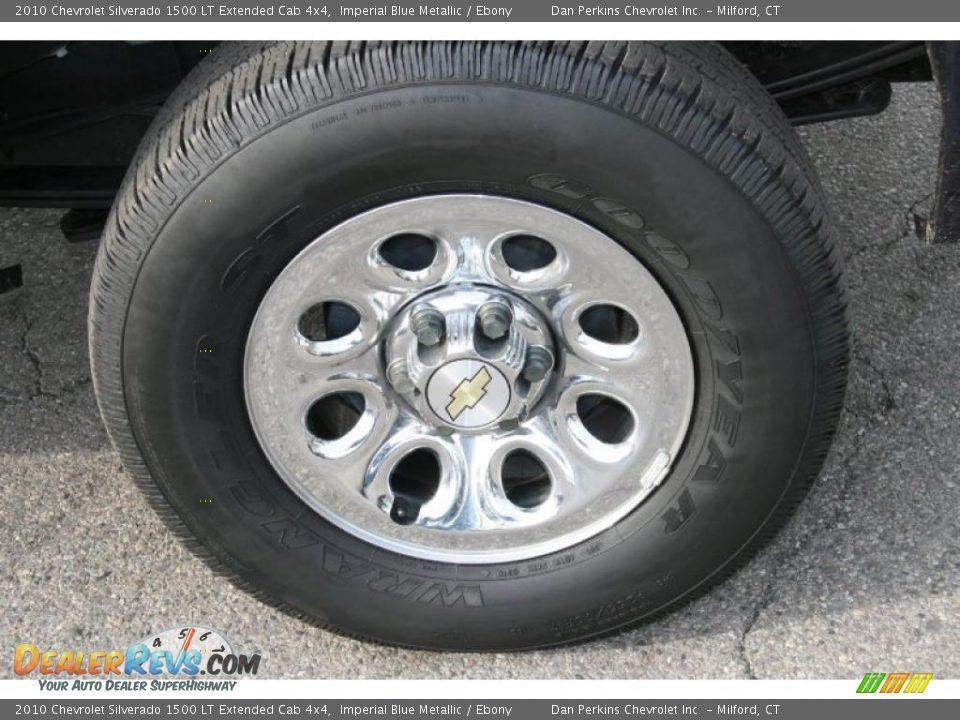 2010 Chevrolet Silverado 1500 LT Extended Cab 4x4 Imperial Blue Metallic / Ebony Photo #19