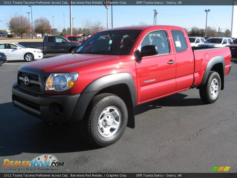 2011 toyota tacoma prerunner access cab barcelona red metallic graphite gray photo 3. Black Bedroom Furniture Sets. Home Design Ideas