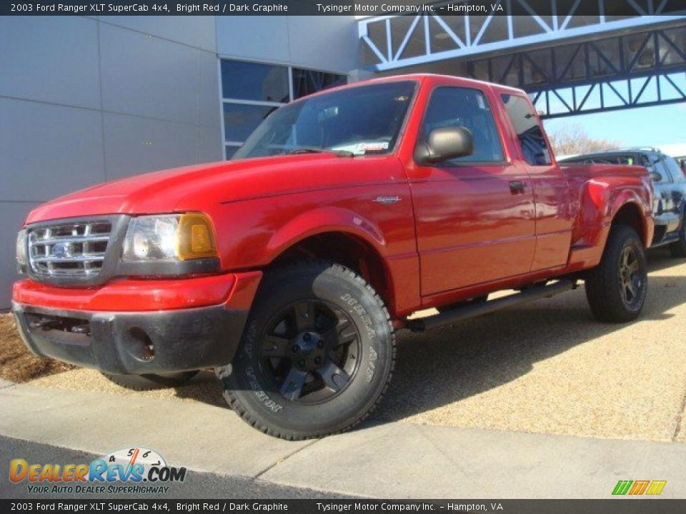 2003 Ford Ranger Xlt Supercab 4x4 Bright Red Dark