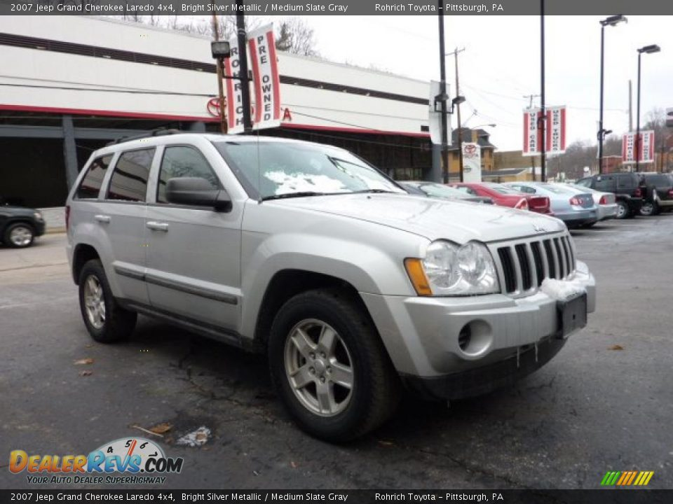 2007 jeep grand cherokee laredo 4x4 bright silver metallic medium slate gray photo 6. Black Bedroom Furniture Sets. Home Design Ideas