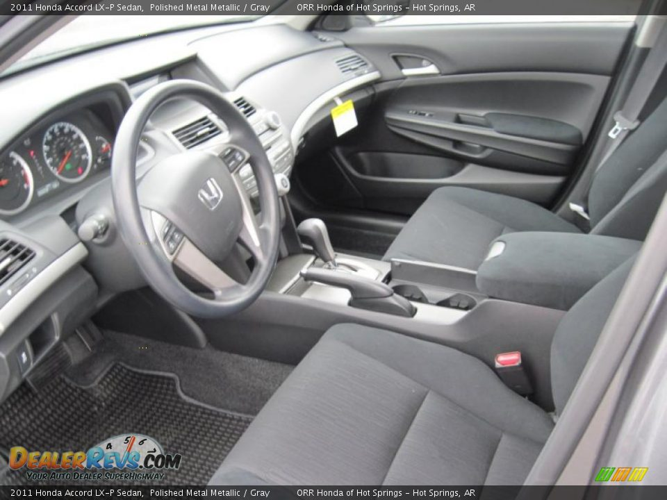 Gray Interior 2011 Honda Accord Lx P Sedan Photo 13