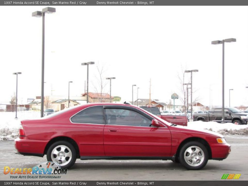 1997 honda accord se coupe san marino red gray photo 10