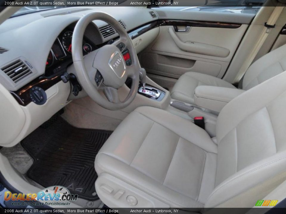 Beige Interior 2008 Audi A4 20t Quattro Sedan Photo 9