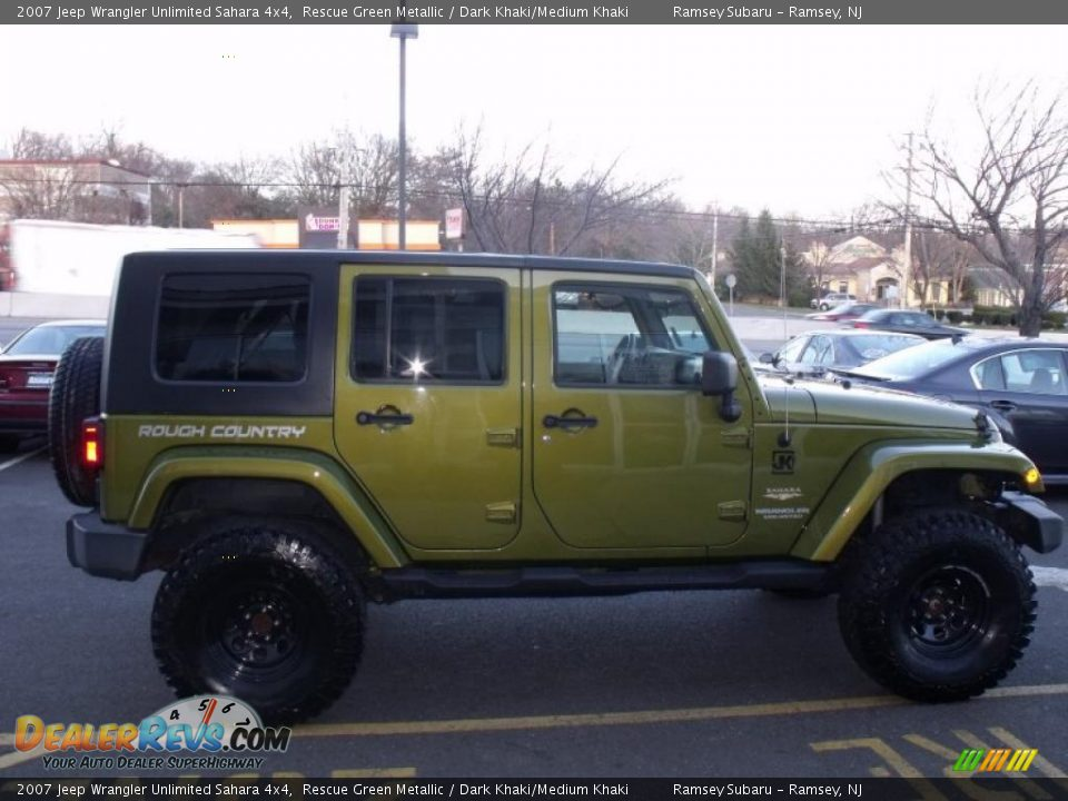 Rescue Green Metallic 2007 Jeep Wrangler Unlimited Sahara 4x4 Photo
