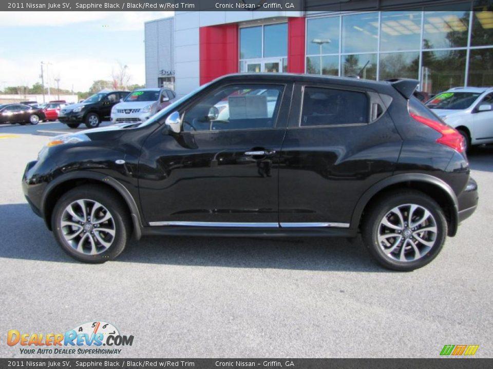 2011 Nissan Juke Sv Sapphire Black Black Red W Red Trim