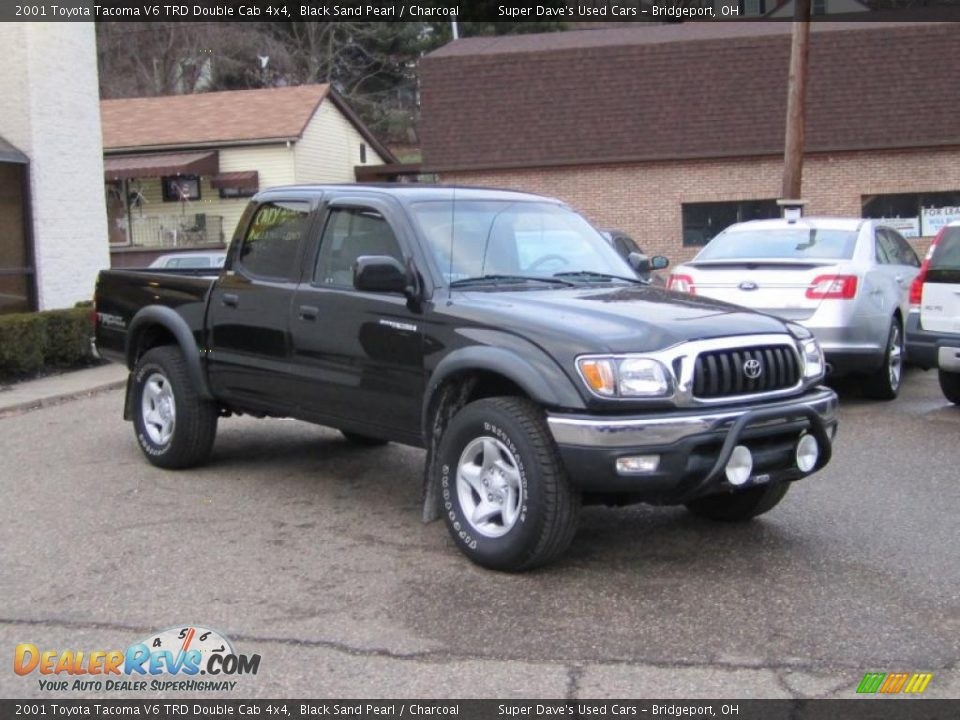2001 toyota tacoma v6 trd double cab 4x4 black sand pearl charcoal photo 4. Black Bedroom Furniture Sets. Home Design Ideas