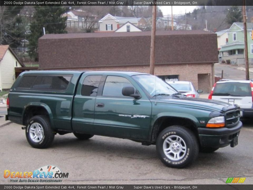Forest Green Pearl 2000 Dodge Dakota Sport Extended Cab