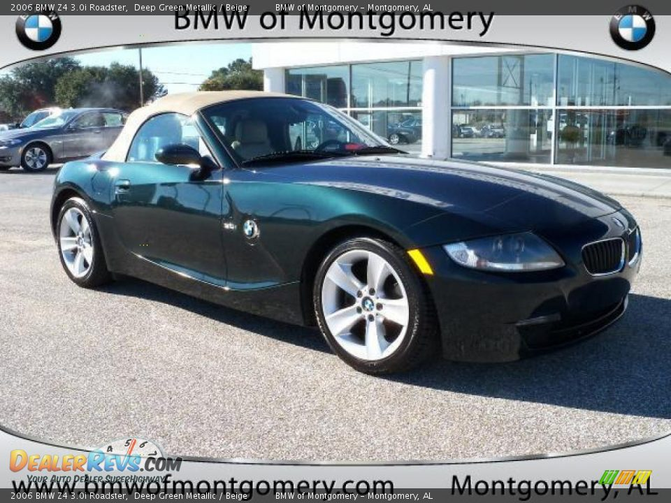 2006 Bmw Z4 3 0i Roadster Deep Green Metallic Beige