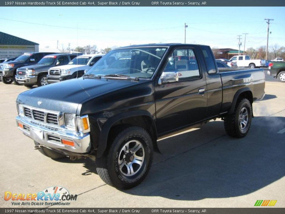 1997 nissan hardbody truck se extended cab 4x4 super black dark gray photo 3. Black Bedroom Furniture Sets. Home Design Ideas