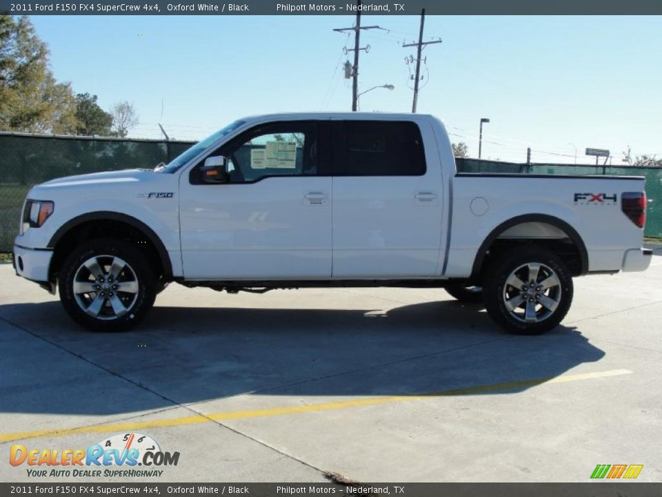 2011 Ford F150 FX4 SuperCrew 4x4 Oxford White / Black Photo #6