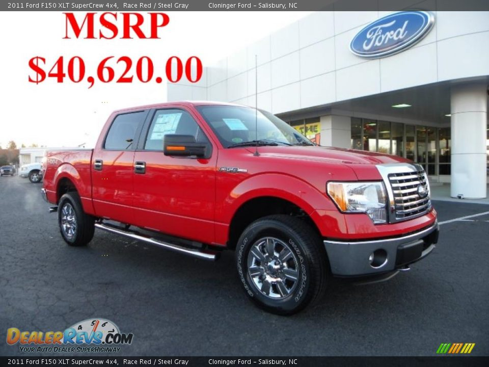 2011 ford f150 xlt supercrew 4x4 race red steel gray photo 1. Black Bedroom Furniture Sets. Home Design Ideas